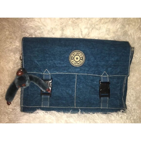 976adf0f8c3 Kipling Handbags - Vintage Kipling Crossbody Laptop Bag Blue Nylon